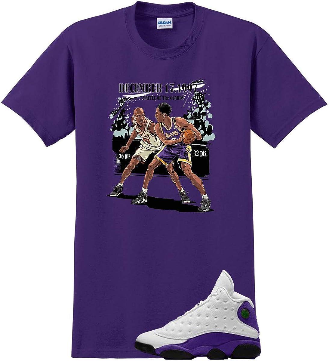 Shirt for Jordan 13 Lakers Laker Purple