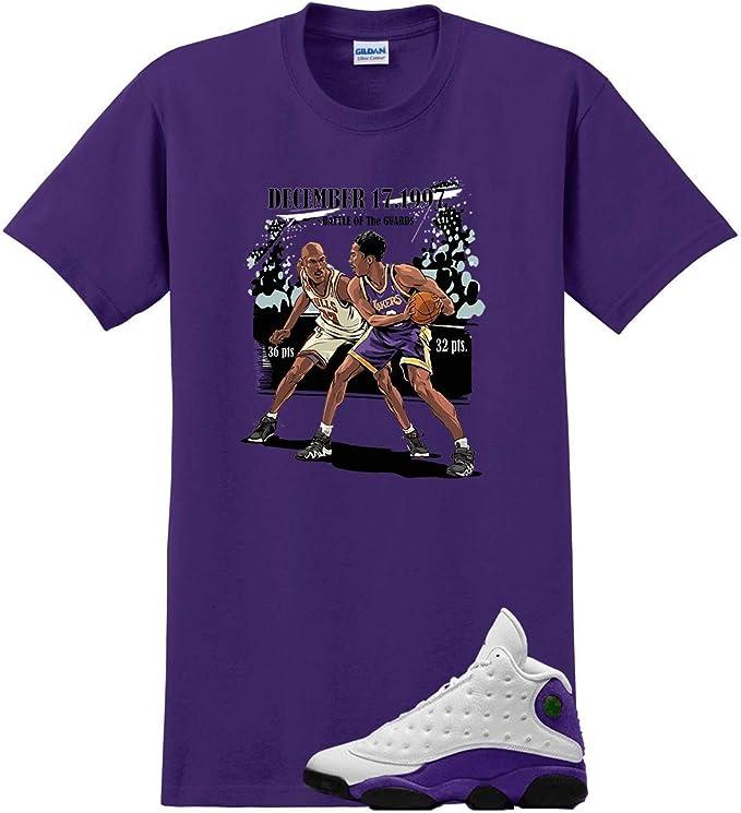 We Will Fit Camisa para Jordan 13 Lakers Laker Púrpura