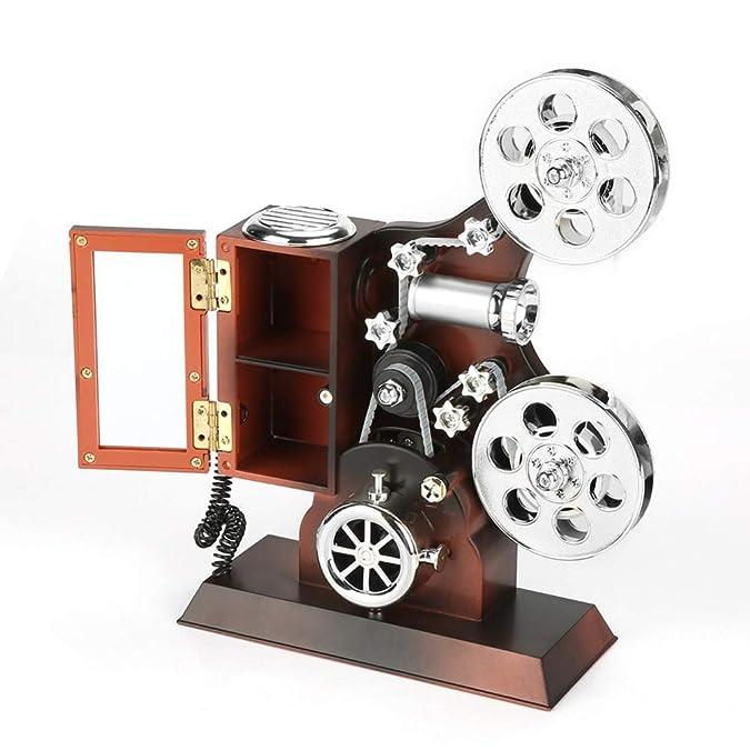 gdxy Joyero Caja de música Vintage Estilo de proyector Caja de ...