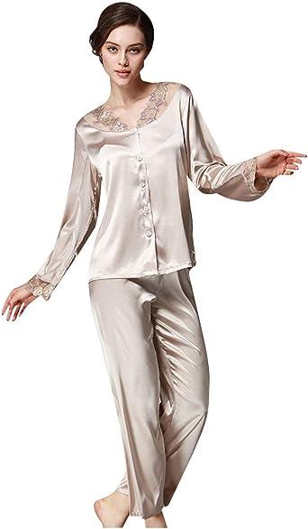 Mujer Batas Elegante Moda Chic Pijamas Mujer Tops Primavera ...