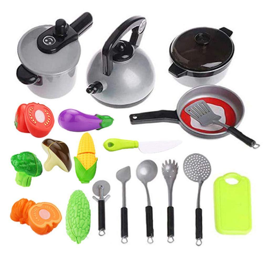 jeu d'imitation cuisine Jouet - Outils de cuisine pour enfants Jouets Cuisiner à la maison Simulation Cuisiner des légumes Couper Baby Early Cognition Toy Set Kbsin212