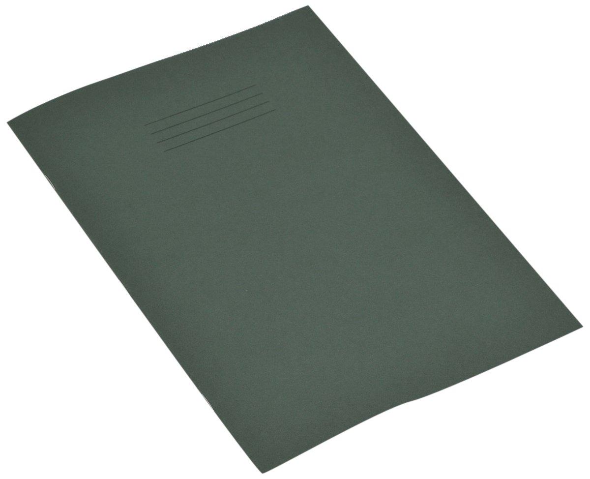RHINO - Quaderno formato A4, 48 pagine a quadretti da 7 mm, colore copertina: Verde scuro (confezione da 10) Victor Stationery VEX681-303-4
