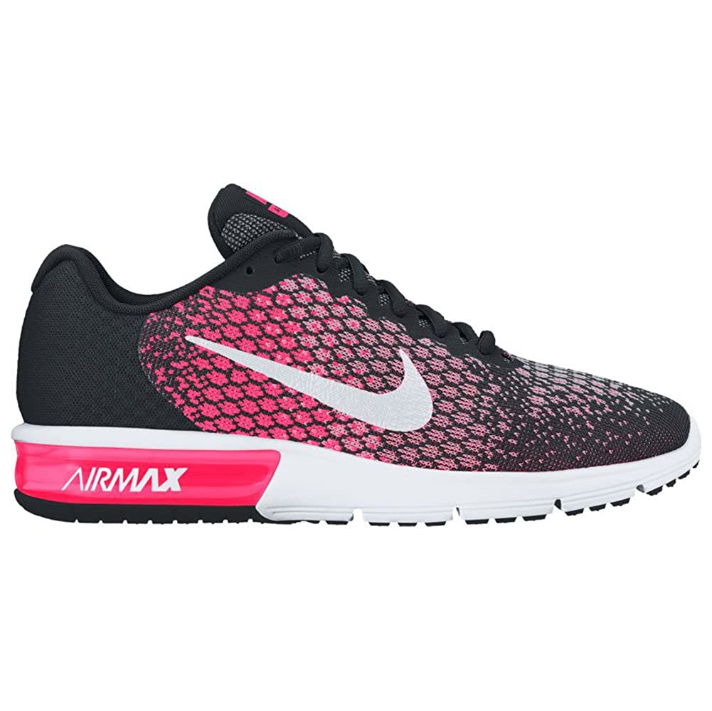new concept 45848 d9c7e Amazon.com   Nike Womens Air Max Sequent 2 Running Shoes Black White Racer  Pink 852465-004 Size 7   Road Running