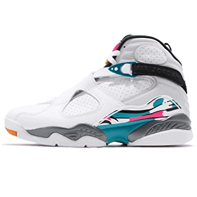 check out 2ee1d 6fb88 ... best price nike air jordan 8 retro chaussures de fitness homme  multicolore white turbo green 96572