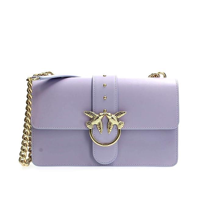 Pinko LOVE SIMPLY 10 BORSE A TRACOLLA Donna Lilla UNI  Amazon.it   Abbigliamento db6d0f49fa4