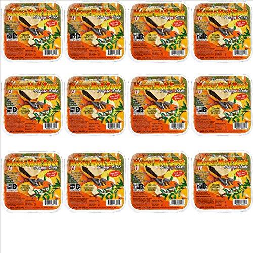 Orange Never Melt Suet Cake [Set of 12]