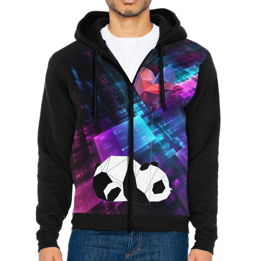 Shenghong Lin Chinese Giant Panda Funny Mens Black Hoodie Sweatshirt Sportswear Jackets With Hoodies
