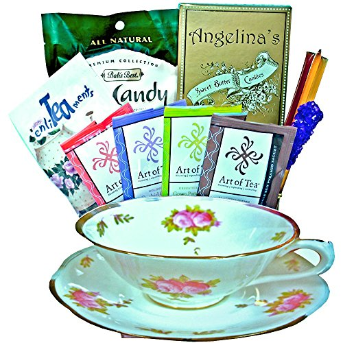 Tea Time Tea Cup Shaped Gift Basket - Teacup Basket