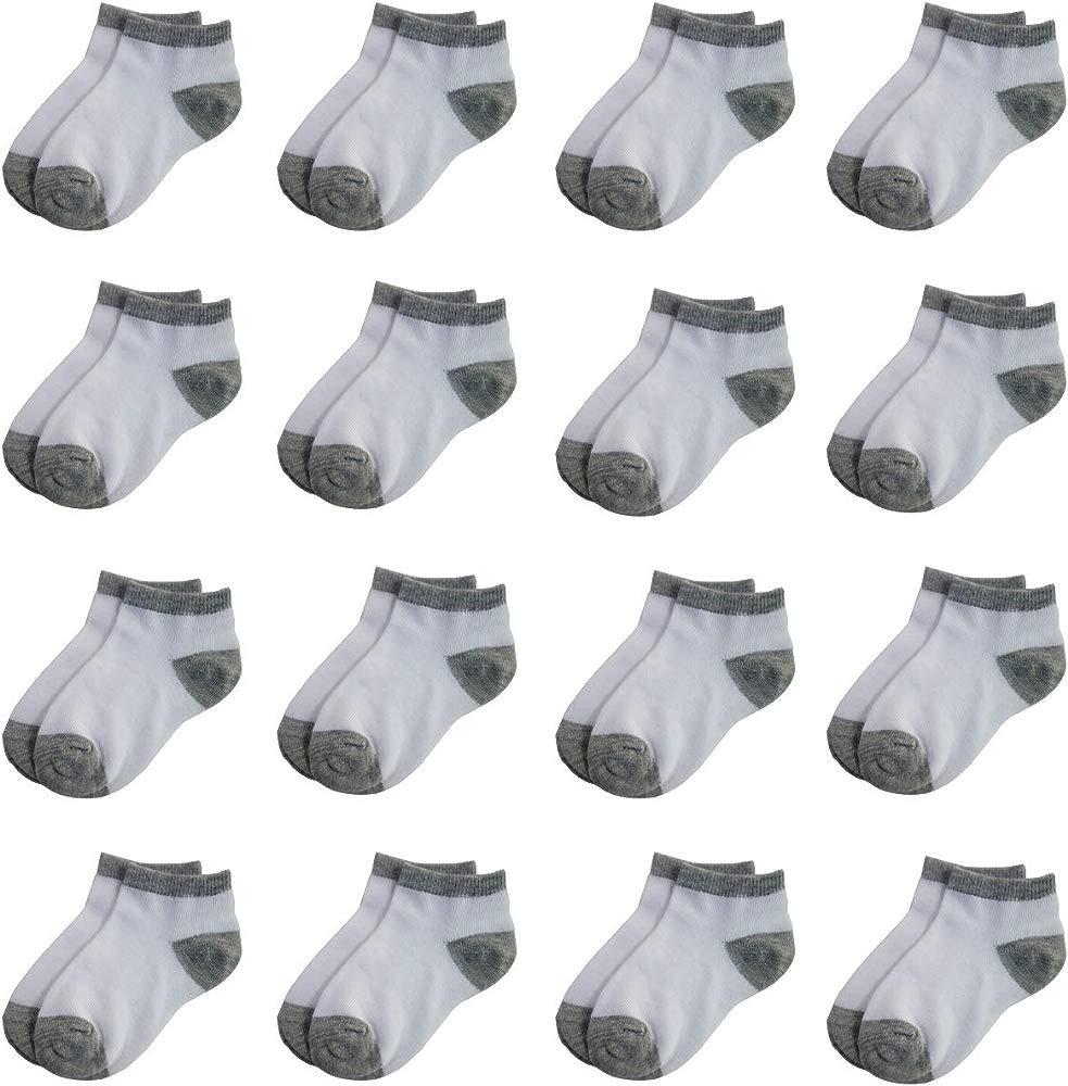 Jamegio 18 Pairs Toddler Boys Girls Short Socks Breathable Cotton Kids Socks