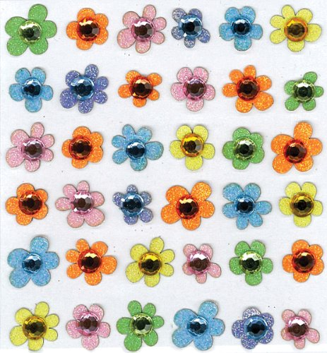 Jolee's Boutique Baby Gem Flowers Dimensional Stickers (Tool Crazy Simply)