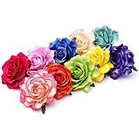 Clips de Pelo de Flor,Horquilla de Flores 10