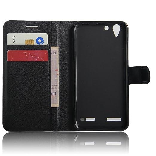 15 opinioni per Lenovo Vibe K5 Wallet Cover, SMTR Custodia In Pelle Con Wallet Case Cover Per