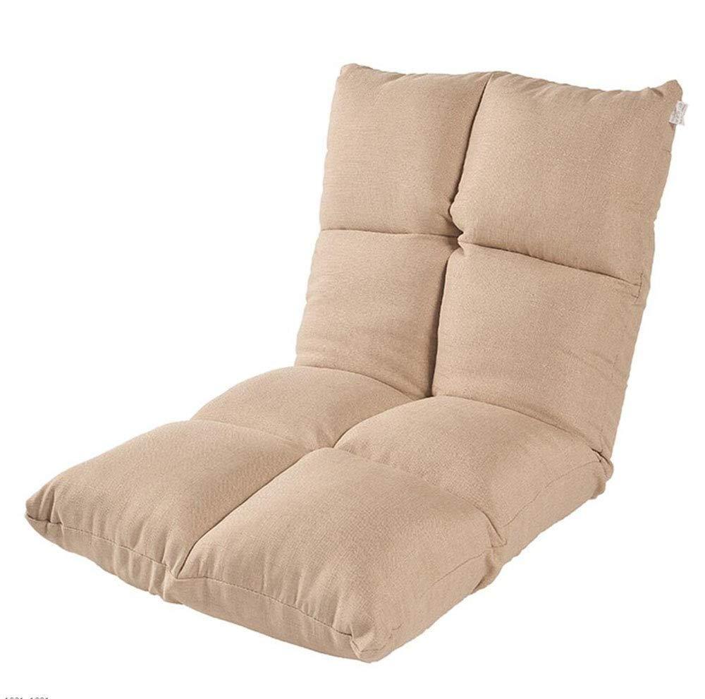 Khaki Seat Cushion Lazy Couch Tatami Bed Backrest Balcony Bay Window Folding Cushion Sofa Chair Foldable Single Small Sofa,Purple Chair Pad (color   Darkcoffeecolor)
