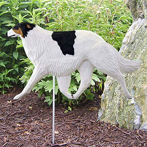 Ky & Co YesKela Borzoi Outdoor Garden Sign Hand Painted Figure Tri