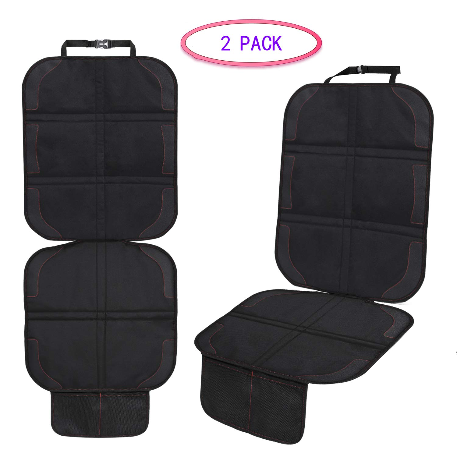2-Pack Car Seat Protector Baby Child Car Auto Seat Cover Dog Mat Vehicle Cover with Organizer
