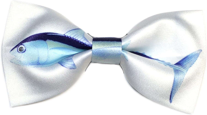 Dise?o De Corbata Peces Estampados Textiles Pajarita (Azul Cielo ...