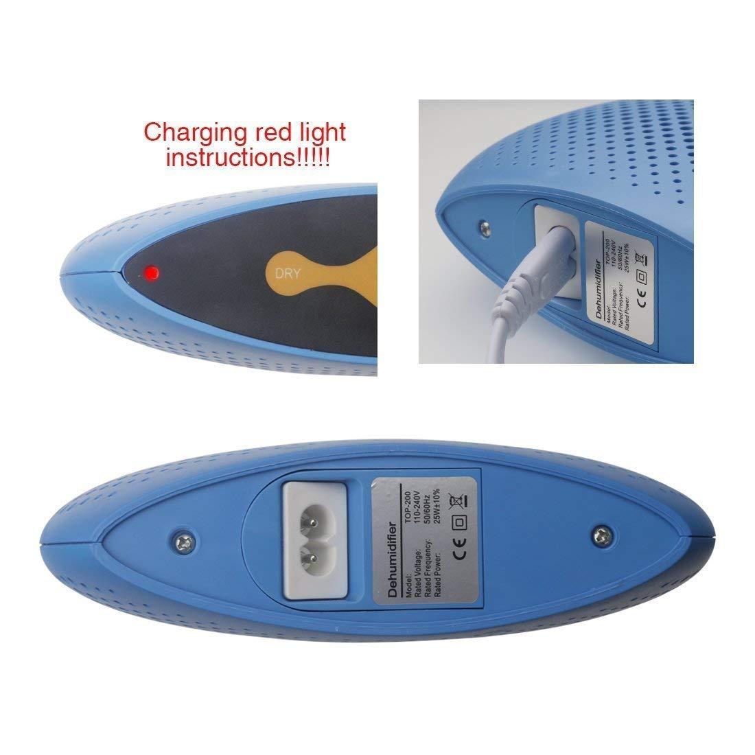 substitut de d/éshydratant Armoires ASEOK Mini d/éshumidificateur /électrique d/éshumidificateur /électronique portable domestique d/éshumidificateur r/ég/én/érateur dhumidit/é rechargeable C