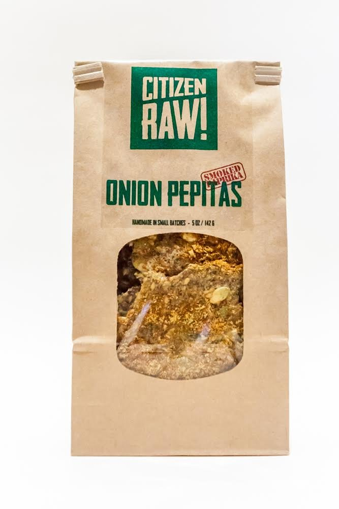 Citizen Raw - ''ONION PEPITAS SMOKED PAPRIKA'' Crispy Raw Dehydrated Flax Seed based Sprouted Crackers