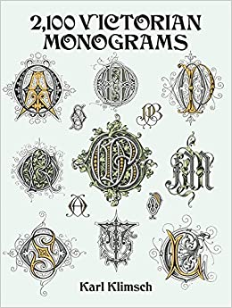 2 100 Victorian Monograms Lettering Calligraphy