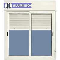 Ventana Aluminio Corredera Con Persiana PVC 1000 ancho
