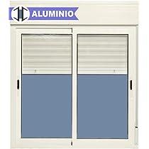 Ventana Aluminio Corredera Con Persiana PVC 1000 ancho × 1150 alto 2 hojas: Amazon.es: Bricolaje y herramientas