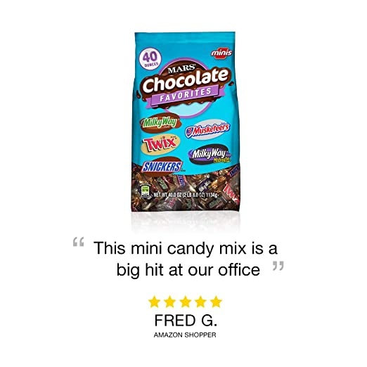 Amazon Com Mars Chocolate Minis Size Candy Variety Mix 40 Ounce