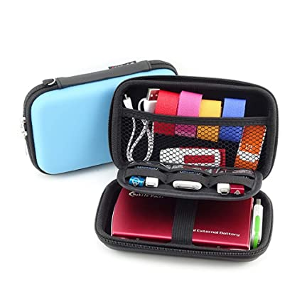 dd15d0b145 Cinotech Double-Layer Travel Cable Organizer for USB Cables Earphone  Charger Phone