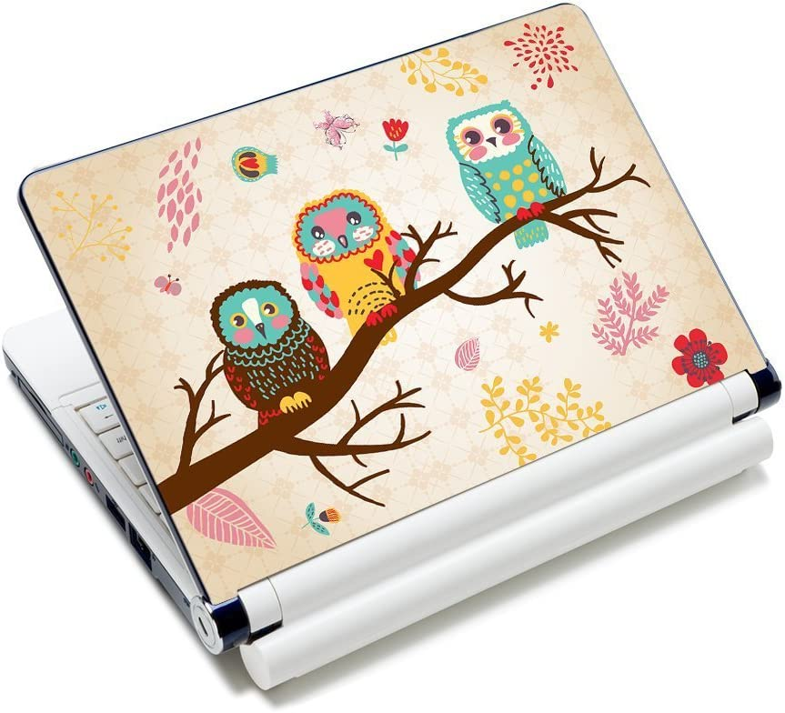 "Laptop Skin Sticker Decal,12"" 13"" 13.3"" 14"" 15"" 15.4"" 15.6 inch Laptop Skin Sticker Cover Art Decal Protector Notebook PC (Owl)"