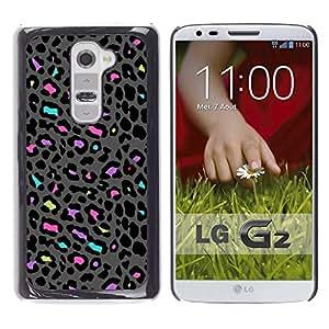 Be Good Phone Accessory // Dura Cáscara cubierta Protectora Caso Carcasa Funda de Protección para LG G2 D800 D802 D802TA D803 VS980 LS980 // Pattern Abstract Grey Pink
