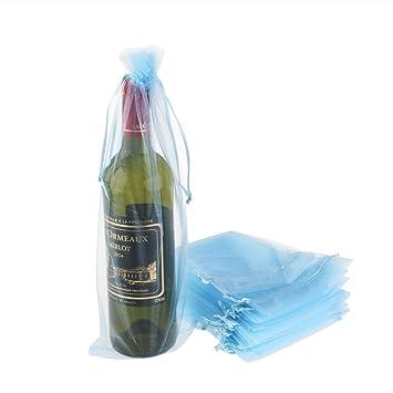 Luoem - Bolsa para botella de vino, bolsas de regalo ...