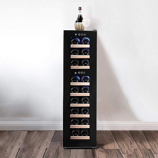 Vinoteca Nevera para Bebidas de Vino Refrigerador 9 Estantes 18 ...