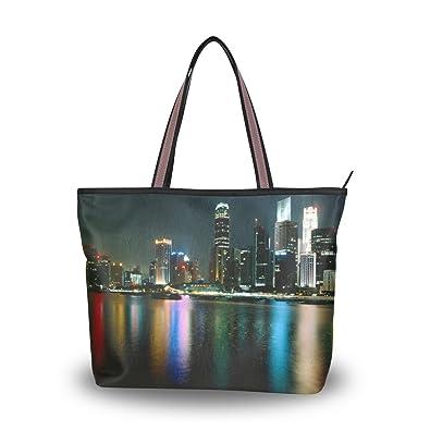 262fc76e45ad Leezone HongKong Printing Microfiber Shoulder Handbags  Handbags ...