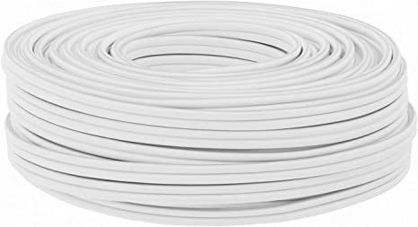 25m 2 x 2,5 mm/² 2x2,5 mm/² Puro Rame HiFi Cavo per altoparlante 25 m DCSk bianco