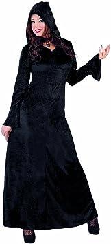 NET TOYS Vestido gótico con Capucha Caracterización Medieval con ...