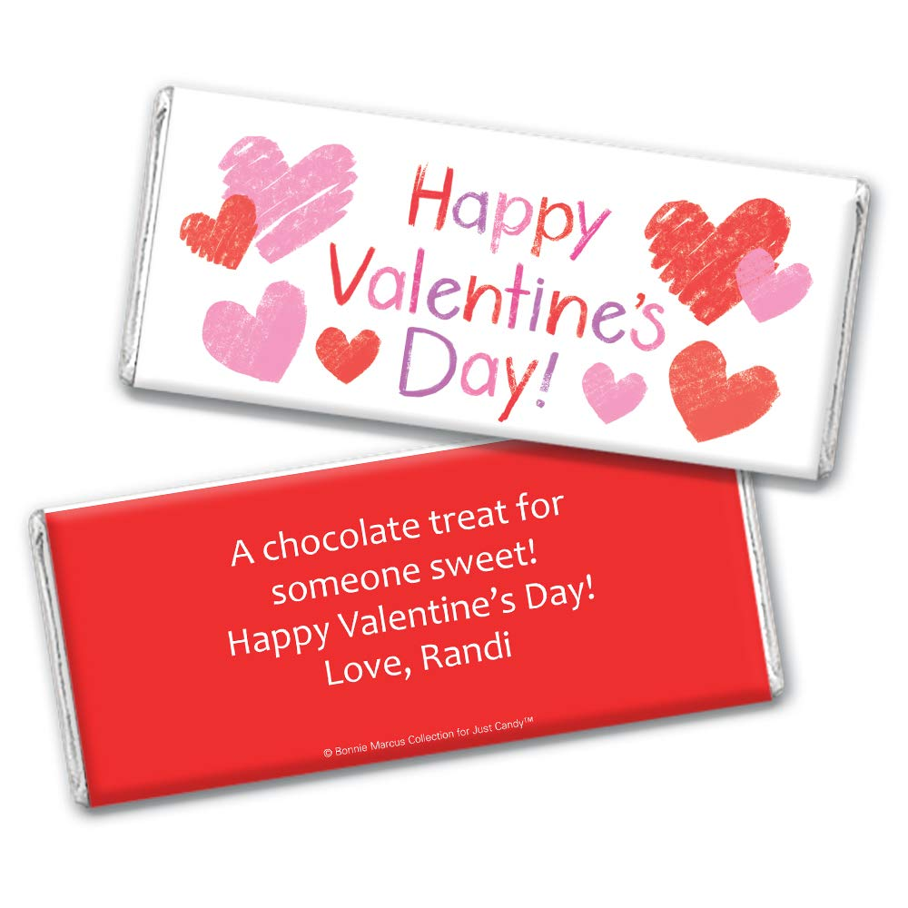 Amazon.com : Valentines Day Candy for Kids Personalized Favors Hersheys Chocolate Bars (36 Bars) : Grocery & Gourmet Food