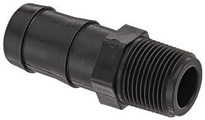 """Banjo HB075-100 Polypropylene Hose Fitting, Adapter, 3/4"""" NPT Male x 1"""" Barbed"""