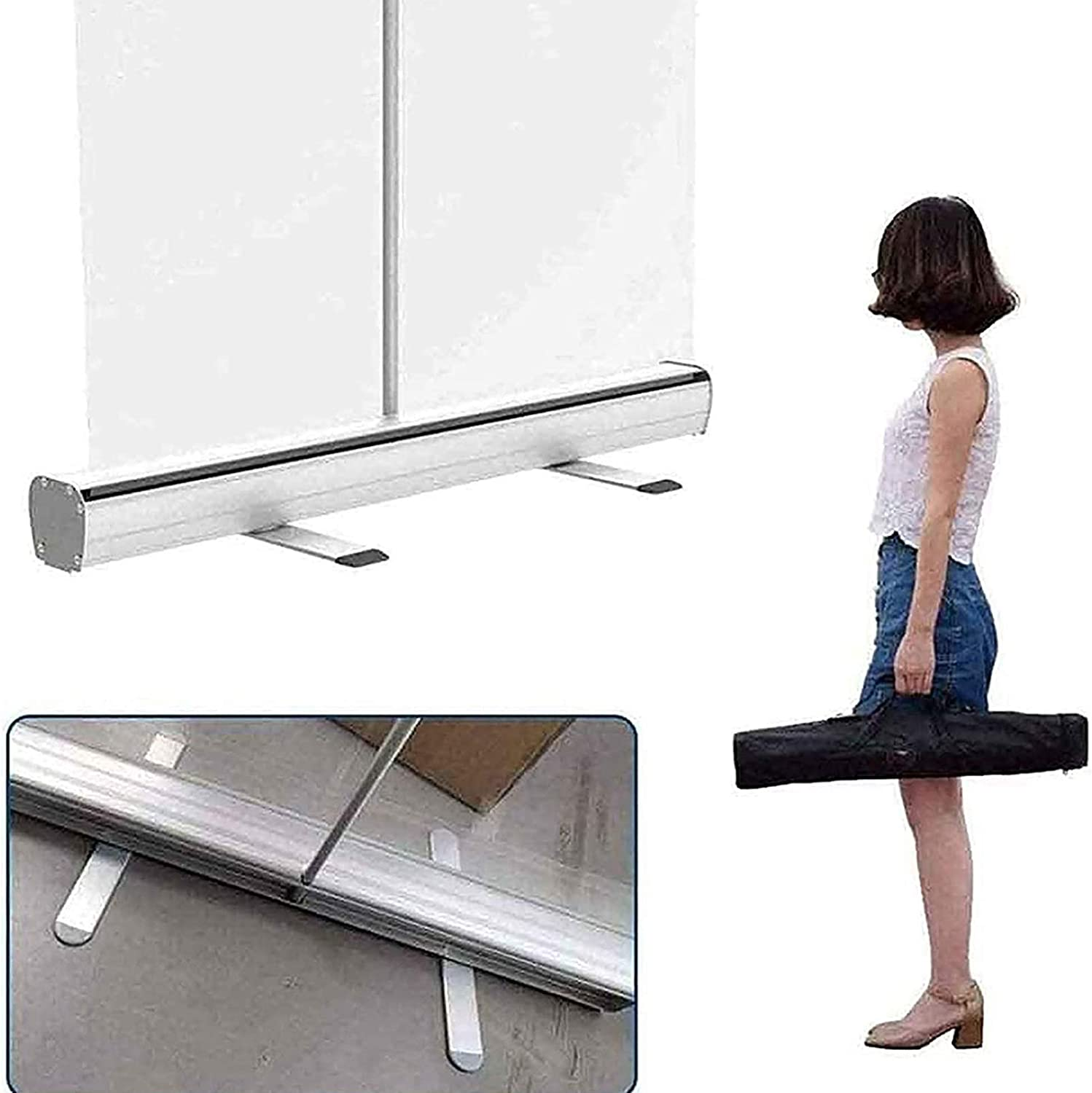 Full Tarp with Steppy Retractable Stand Free Standing Isolation Barrier RZB Floor Standing Sneeze Guard Size : 80180cm Clear Film Protective Shield for Cafes