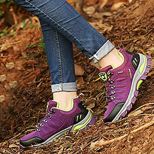 Hiking Climbing Trail Shoes Outdoor Women's Purple Waterproof Anti Running Slip Shoe Hiker Casual Backpacking Eqv6XX