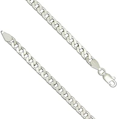 925 Sterling Silver Flat Open Curb Chain Necklace