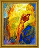 "Angelica on the Rock by Odilon Redon - 21"" x 26"" Framed Premium Canvas Print"