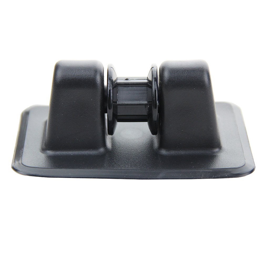 UP100 PVC Anchor Tie Off Patch Anchor Holder Wheel Anchor Bow Roller for Boating Inflatable Boats Kayaks Dinghy (Black)