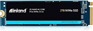Inland Professional 2TB SSD 3D QLC NAND M.2 2280 PCIe NVMe 3.0 x4 Internal Solid State Drive (2TB)