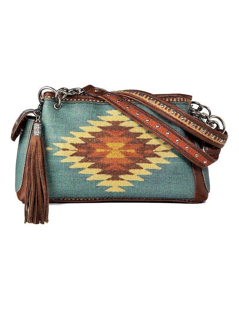 b0f567f866f7 Amazon.com: Blazin Roxx Women's Zapotec Style Aztec Print Satchel ...