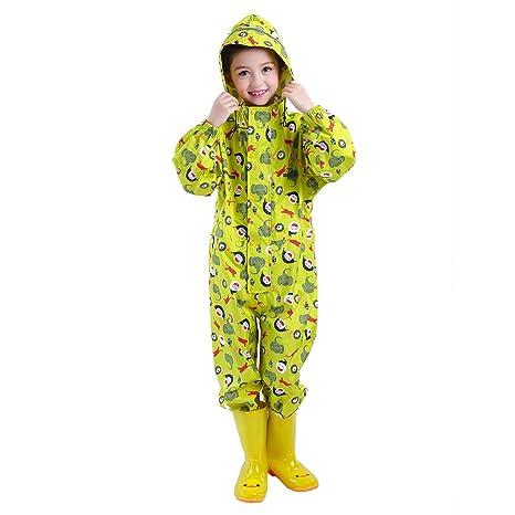 Traje de Lluvia para niños Impermeable Pantalones Chubasquero ...