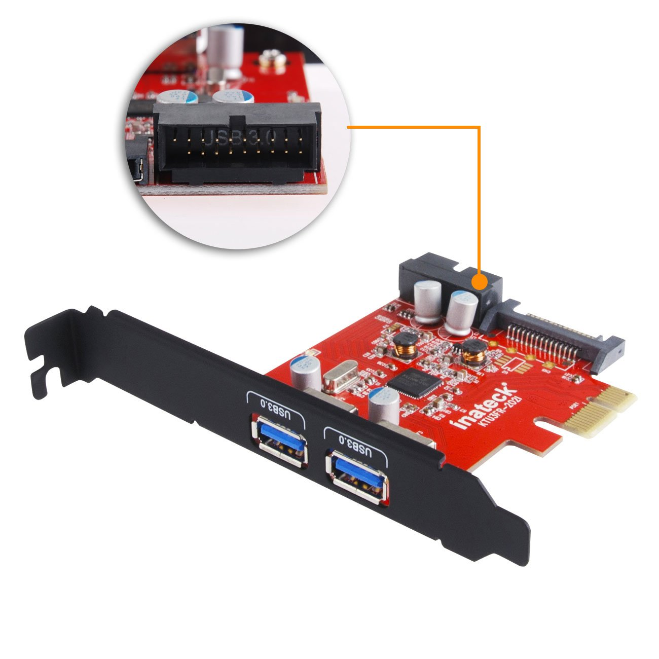 Inateck Pci E To Usb 30 2 Port Express Card And 15 Toshiba Satellite P35 Laptop Schematic Diagramla2371 Pin Power Connector Mini Hub Controller Adapter With Internal
