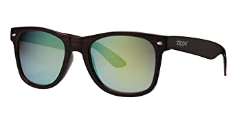 Zippo Flash Mirror Lens Gafas de Sol, Unisex, marrón, Medium