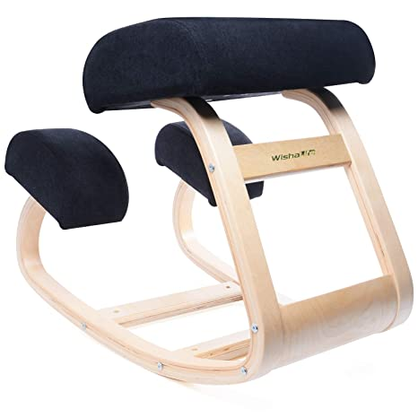 Pleasant Ergonomic Office Chair Wishalife Kneeling Chair Rocking Posture Wood Stool For Home Office Desk Chair Orthopedic Stool Relieving Back And Neck Pabps2019 Chair Design Images Pabps2019Com