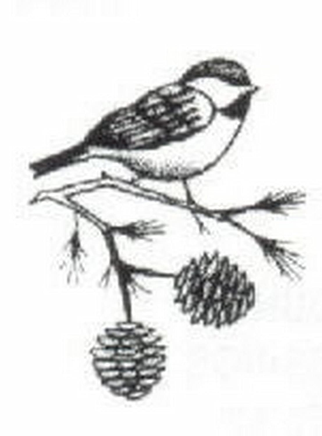 Stained Glass Etched Bevel Oval 4x6 Chickadee By Stallings Stained Glass