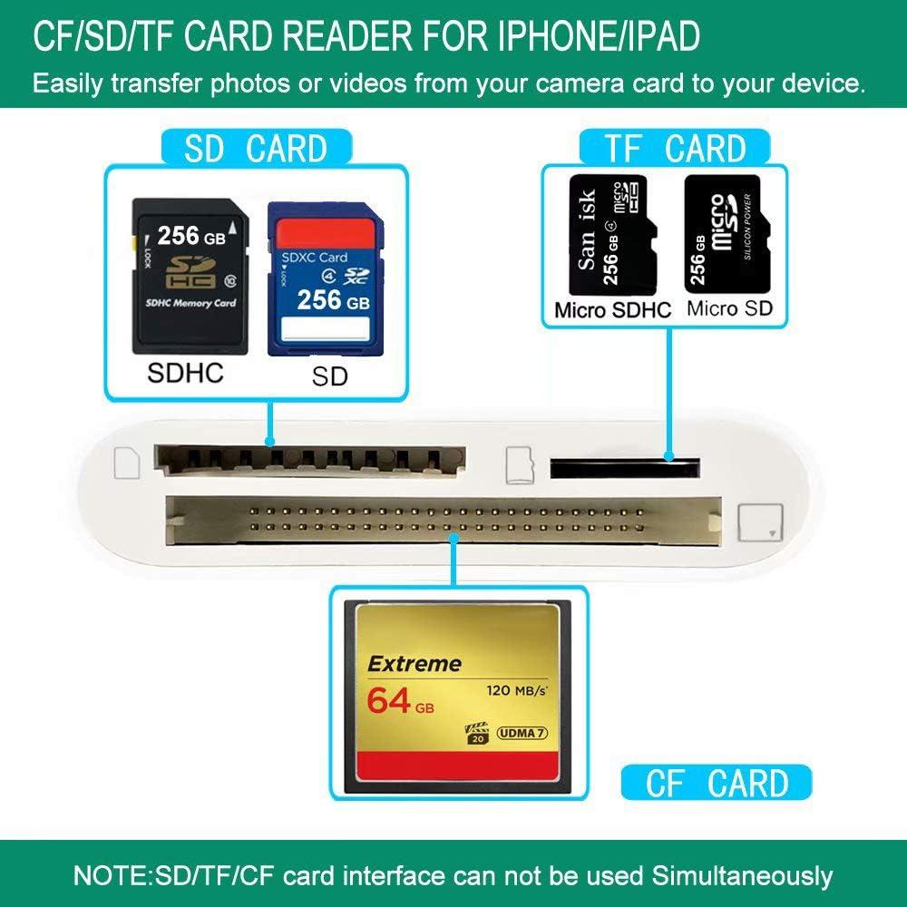 Amazon.com: CF lector de tarjetas para iPhone/iPad/iPad Pro ...