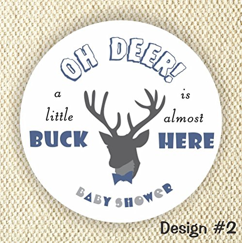 oh Deer! Baby Shower Stickers - Little Buck Stickers - It's a boy stickers- Thank you for Celebrating with me